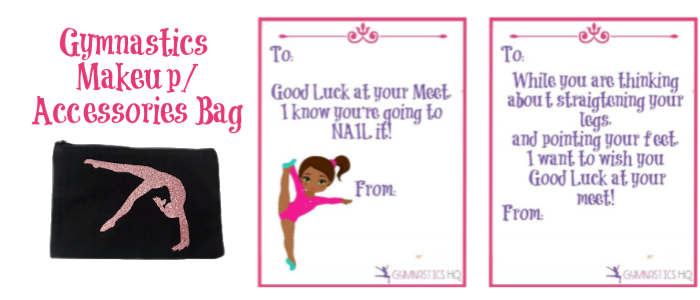 Gymnastics Good Luck Meet Gifts makeup bag