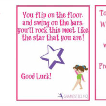 Gymnastics Good Luck Gifts
