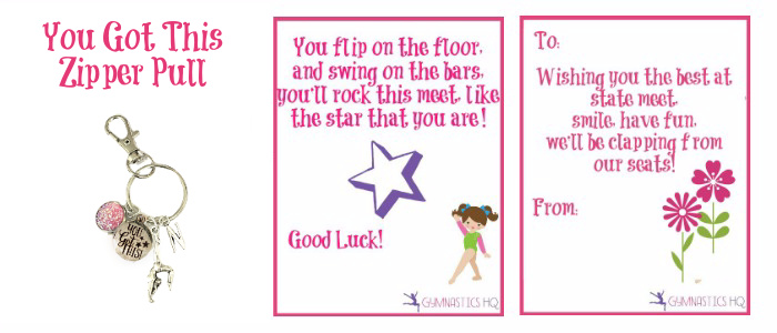 Gymnastics Good Luck Meet Gift