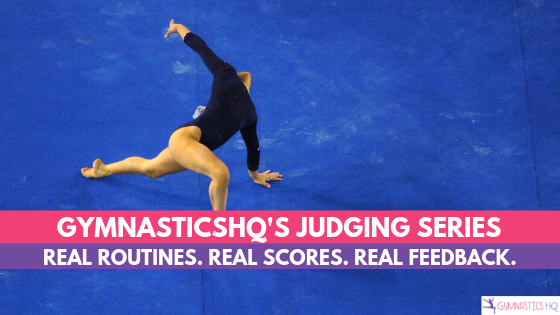 GymnasticsHQ's Judging Series with real routines and deduction breakdowns