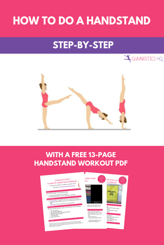Learn how to do a handstand and get a free handstand workout guide