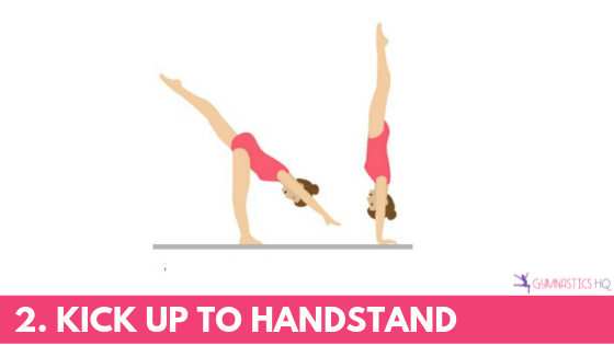 The next step in a cartwheel is to kick up to handstand.