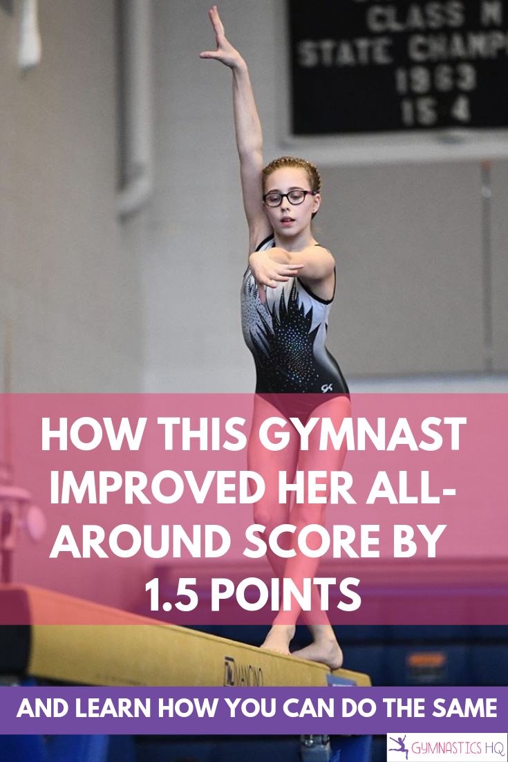 How one gymnast improved her all-around score by 1.5 points in just 15 minutes per day.