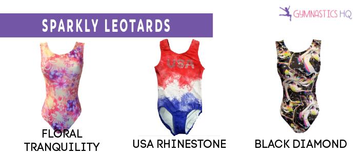 sparkly gymnastics leotards