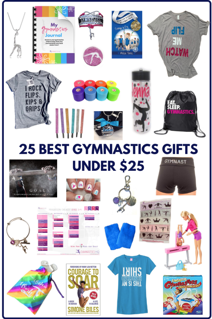 Here is a list of 25 Best Gymnastics Gifts Under $25!!!