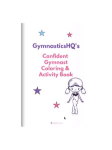 confident gymnast coloring activity book