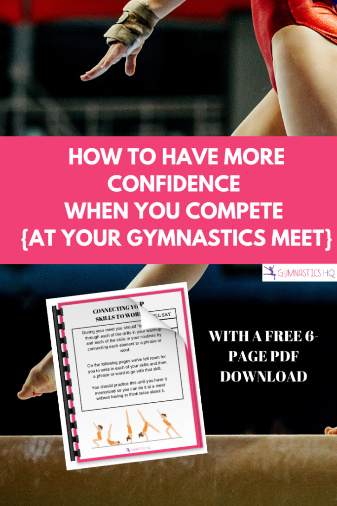How to have more confidence when you compete at your gymnastics meet with free pdf download
