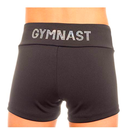 These adorable gymnast applique shorts are a great holiday gift for your gymnast.