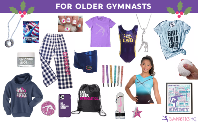 gymnastics gifts, 2019 gymnastics holiday gifts, best gymnastics gifts