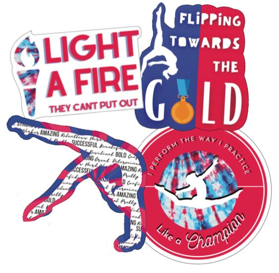 gymnastics USA pride sticker bundle