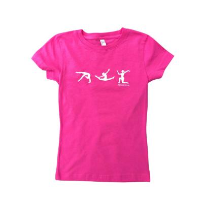 pink gymnast figure shirt