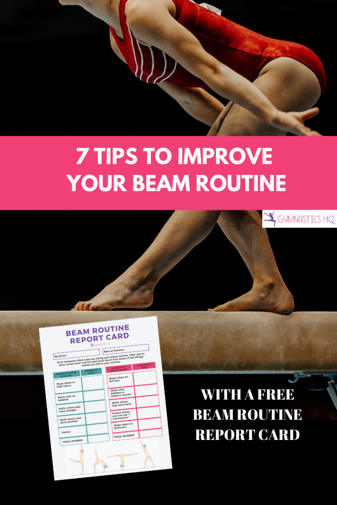7 tips to improve your beam routine with free beam routine report card