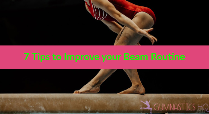 improve your beam routine gymnastics