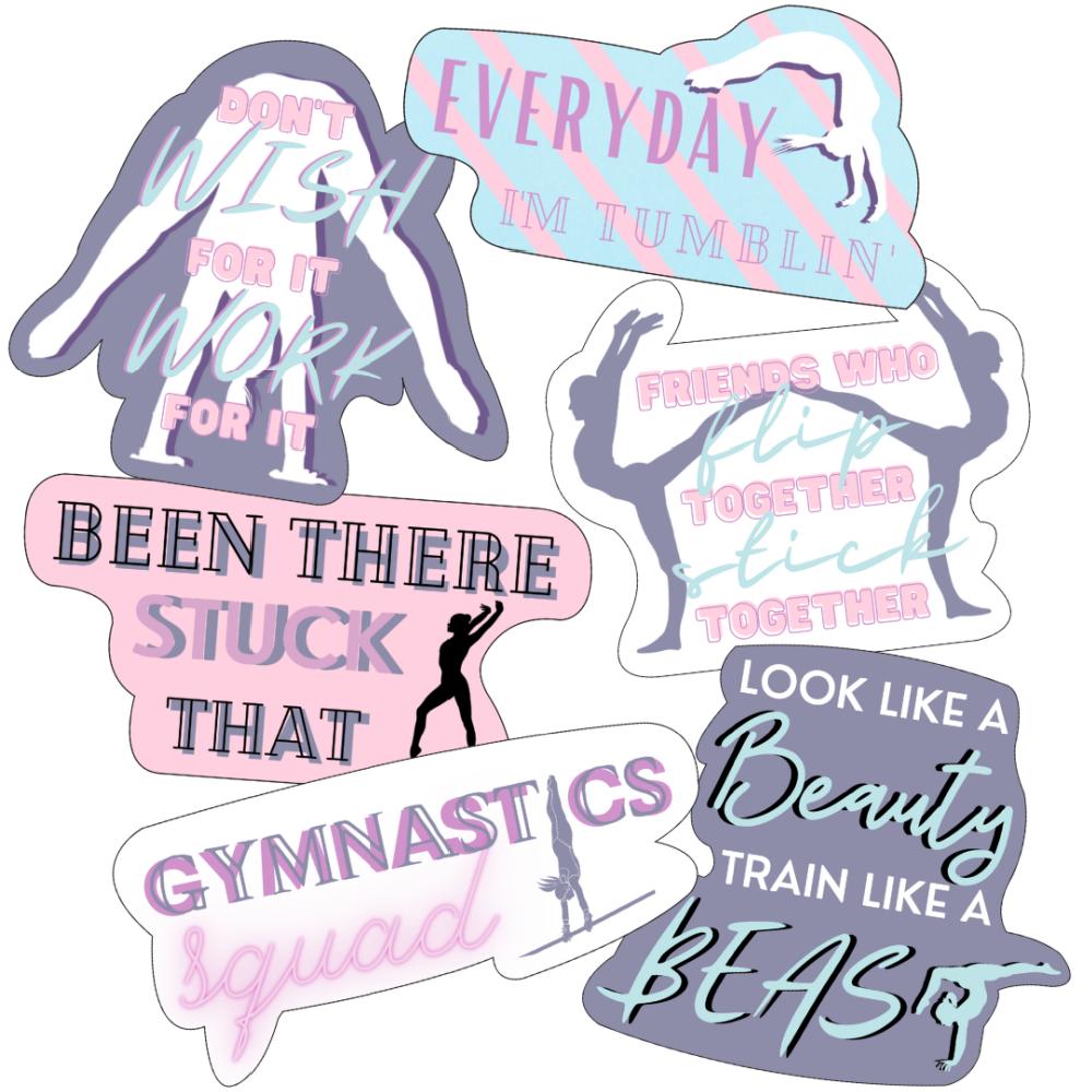 gymnastics quote sticker bundle