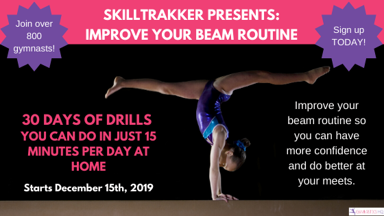 Improve your beam routine in just 30 days with SkillTrakker