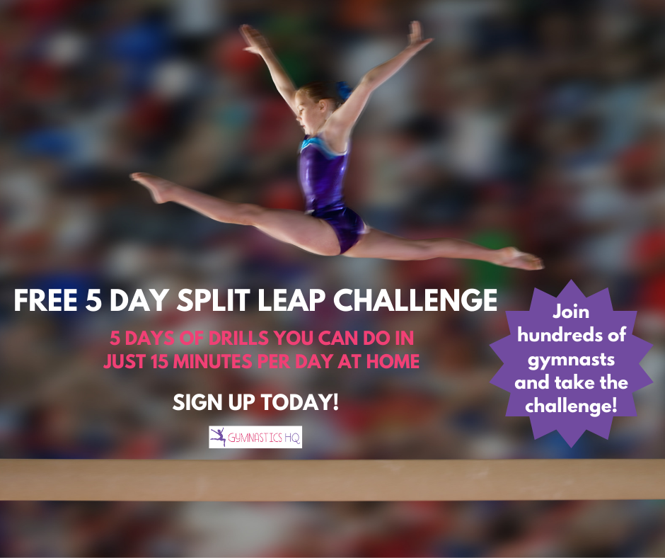 Join GymnasticsHQ's free split leap challenge!