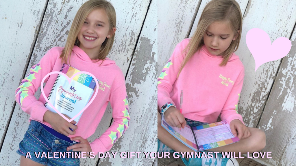 Gymnastics Mindset Meet Journal makes a great Valentine's Day gift