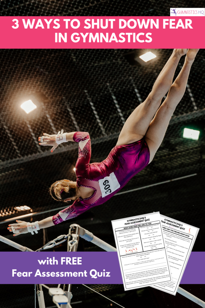 3 Ways to shut down fear in gymnastics with free fear assessment quiz pdf