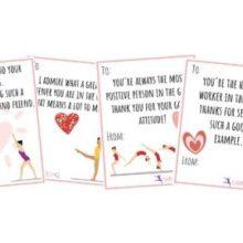 Gymnastics Valentine's Day Printables