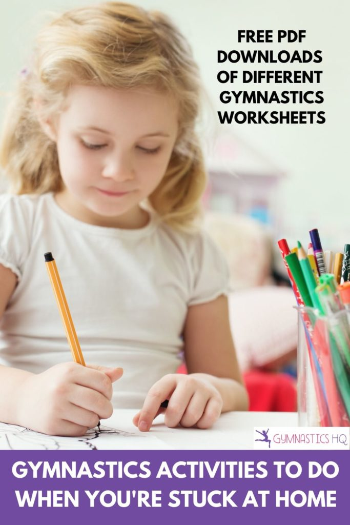 Gymnastics Activities to do when you're stuck at home with free pdf downloads