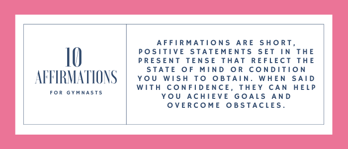 affirmations for gymnasts