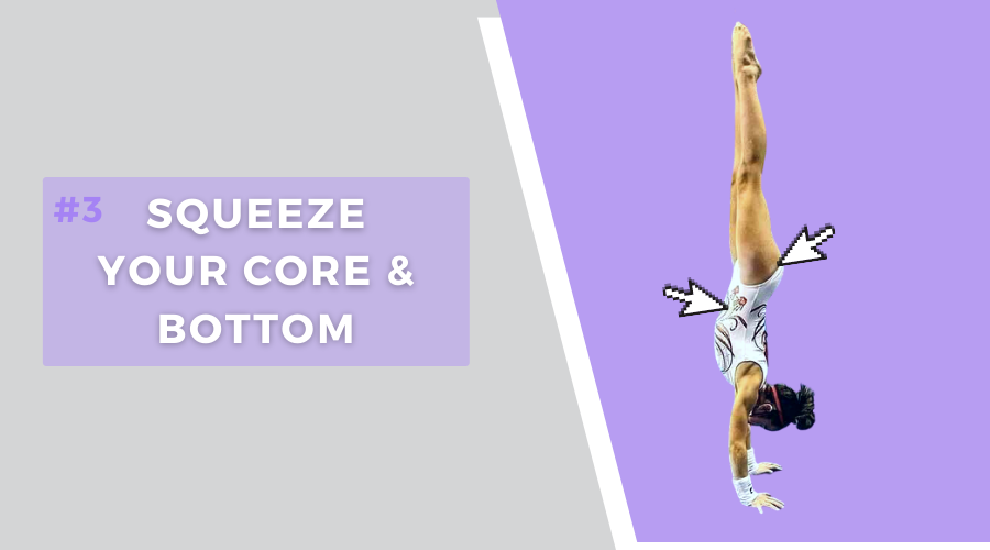 4 tips hold handstand longer squeeze core and bottom