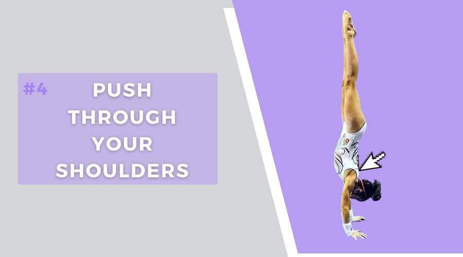 4 tips hold handstand longer push through shoulders